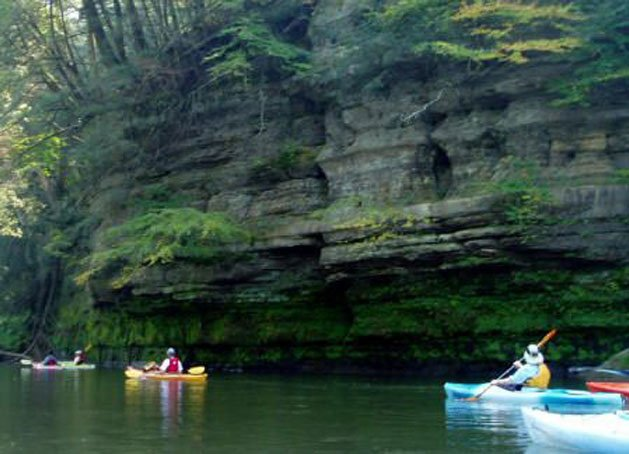 Kayaking on the Kickapoo River in Ontario Wisconsin